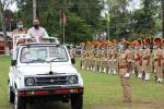 Minister for Handloom & Textiles, etc. Shri Ranjit Dutta inspected the Guard of Honour