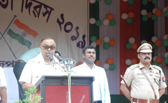 Address by Minister for Handloom & Textiles, etc., Shri Ranjit Dutta on the occasion of 73rd Independence Day at Tezpur